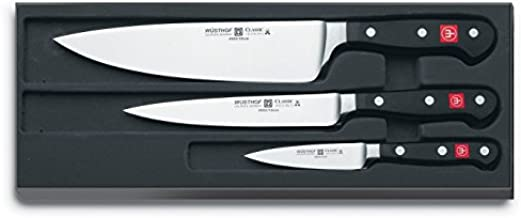 Wüsthof Classic High Carbon Steel 3 Piece Chef's Knife Set