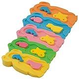 Baby Badeschwamm Sitzschwamm Badeunterlage Für Babys ab der Geburt Gr.MIDI inkl.Waschschwamm (2 Stück) (Rosa)