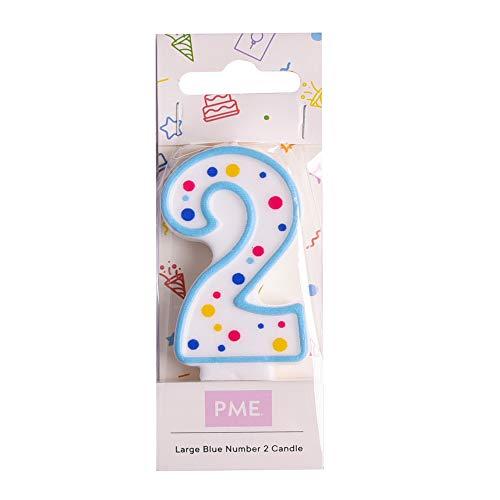 PME CA062 Candela Numero 2, Cera, Blu, 4 x 1 x 6.3 cm