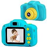 PROGRACE トイカメラ 子供用 デジタルカメラ 4倍ズーム 動画 連写 タイマー撮影 2.0インチIPS画面 一眼レフ キッズカメラ 子供用カメラ ミニカメラ 子供プレゼント 日本語説明書付き 水色
