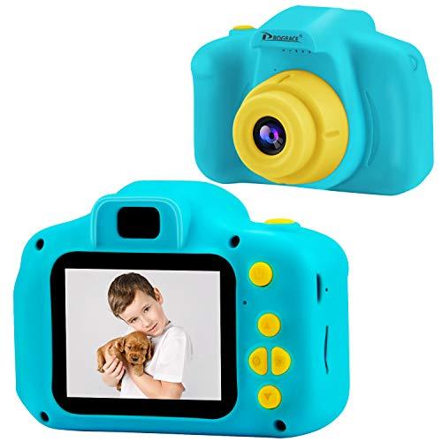 PROGRACE トイカメラ 子供用 デジタルカメラ 写真 動画 連写 タイマー撮影 2.0インチIPS画面 一眼レフ キッ...