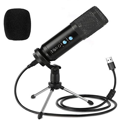 Kdely USB Mikrofon für PC Laptop, Kondensator Mikrofone mit Ständer, Professionelle Studiomikrofon mit Optimaler für Streaming/Youtube/DAW-Aufnahmen/Gaming/Podcasts/Twitch
