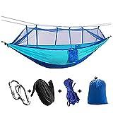 CZLSD Hamaca De Acampada con Mosquitera para 1/2 Personas, Cama Colgante Portátil, Tela De Paracaídas Resistente, Columpio para Dormir para Jardín, Viaje (Color : Sky Blue)
