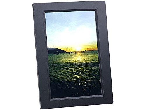 Somikon Digitaler Bilderrahmen: WLAN-Bilderrahmen mit 25,7-cm-IPS-Touchscreen & weltweitem Bild-Upload (Fotorahmen)