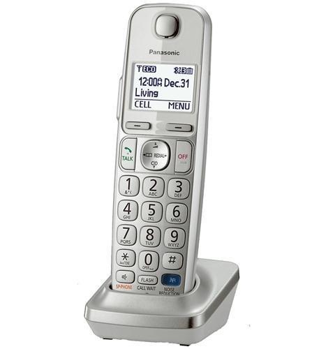 Panasonic KXTGEA20S Digital Cordless Handset for TGE210 230 240 260 270 series, Silver (Renewed)