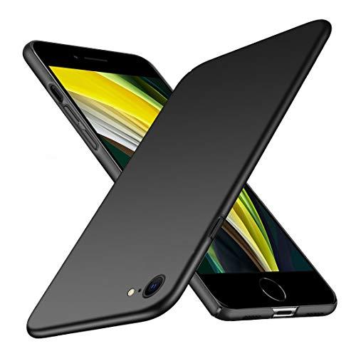 TOPACE Hülle für iPhone SE 2020 Ultradünne Leichte Matte Handyhülle Einfache Stoßfeste Kratzfeste Schutzhülle kompatibel mit iPhone SE 2020 (Schwarz)