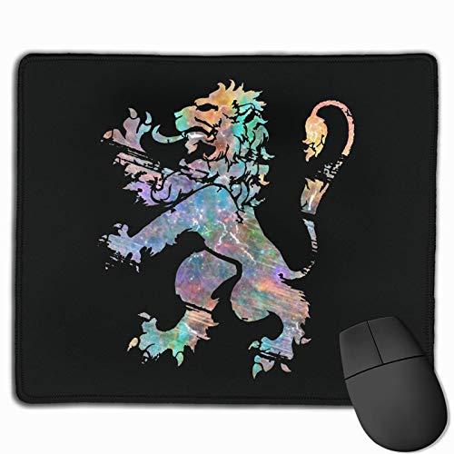 Alfombrillas de ratón rampantes de León cósmico Alfombrilla de ratón de Oficina para Juegos Antideslizante Alfombrilla de ratón de Goma Rectangular