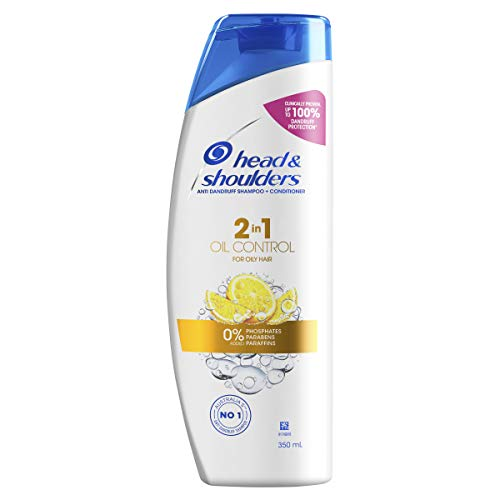 Head & Shoulders Oil Control 2 in 1 Anti Dandruff Shampoo and Conditioner With Citrus Extract For Oily Scalp 350ml