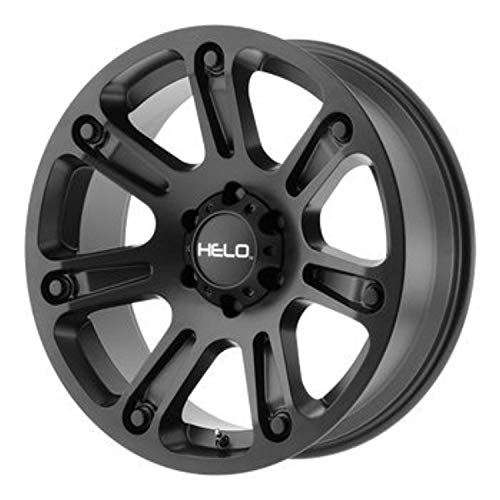 HELO HE904 Satin Black Wheel Chromium (hexavalent compounds) (17 x 9. inches /6 x 106 mm, 0 mm Offset)