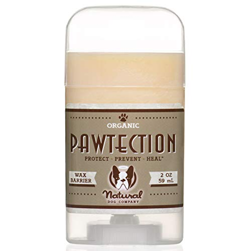 Natural Dog Company PawTection Dog Paw Balm Stick, Protects Dog Paws from Heat, Salt, Snow, Prevents Paw Damage, Organic, All Natural Ingredients