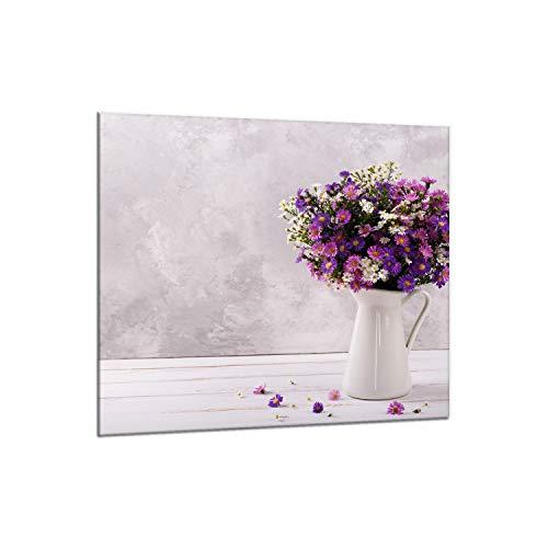 Decorwelt - Paraschizzi da cucina in vetro, 65 x 60 cm, protezione da parete per fornelli e fornelli