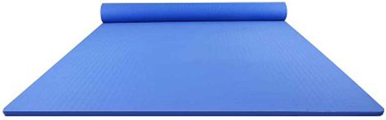 IUYWL TPE Anfnger verbreiterte und erweiterte Yogamatte Outdoor-Trainingsmatte Fitnessmatte 200cm × 128cm Yoga Matte (Farbe   Blau)