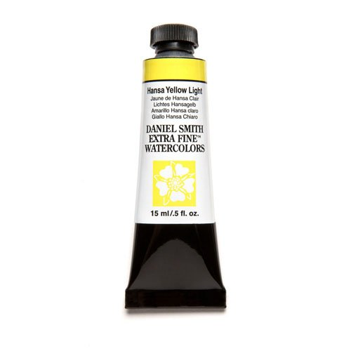 DANIEL SMITH Extra Fine Watercolor 15ml Paint Tube, Hansa Yellow Light