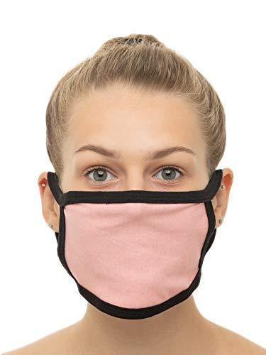Gesichtsmaske Nasenmaske Mundschutz Gesichtsband waschbar wiederverwendbar Stoff, taglia unica, Rosa, 1