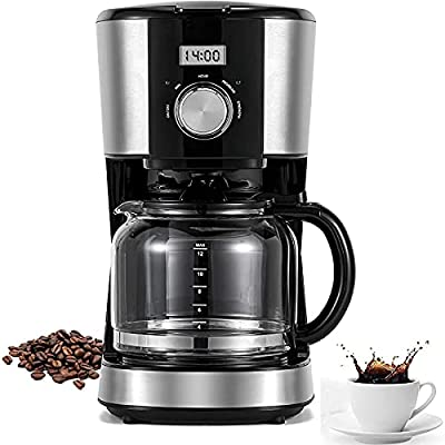 12 Cups Coffee Maker with Reusable Filter,Progr...
