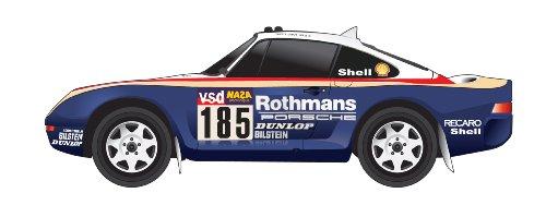 Truescale Miniatures - Tsm111806r - Véhicule Miniature - Modèle À L'échelle - Porsche 959/50 Rothmans - 2nd Paris-Dakar 1986 - Echelle 1/18