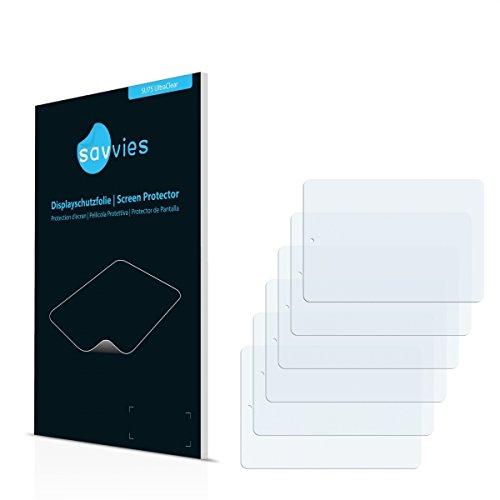 6x Savvies SU75 UltraClear Bildschirmschutz Schutzfolie für Blaupunkt Endeavour 785 (ultraklar, mühelosanzubringen)