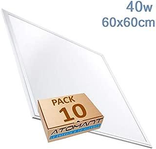 (LA) 10x Panel LED Slim 60x60cm, 40W, 3200 lumenes Reales certificados. (Blanco neutro 4500K, Pack 10x)