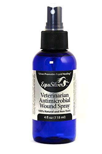 Equisilver Wound Spray for Dogs, Cats & Birds | Safe & Easy to Apply | Wounds, Scrapes, Dry Itchy Skin, Hot Spots, Bacteria & Skin Infections | All Natural Antibiotic