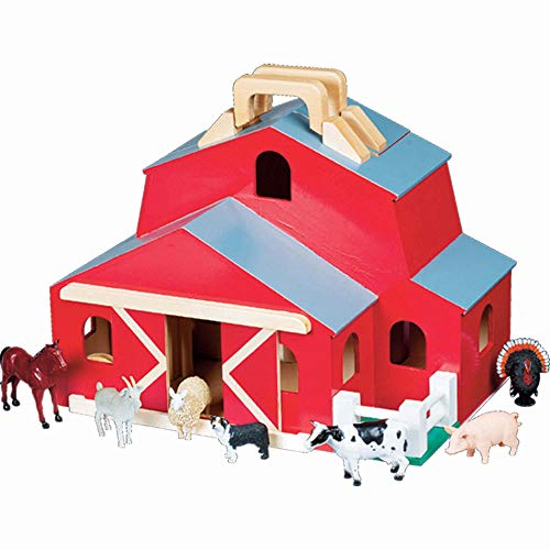 Melissa & Doug Fold & Go Barn With 7 Animal Play Figures