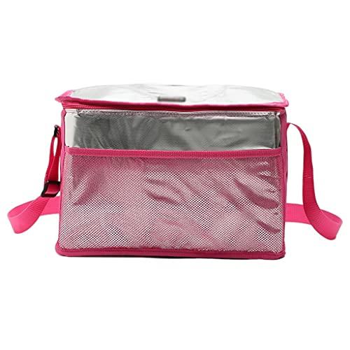 WFS Bolsas térmicas Bolso de Picnic de Enfriador Aislado Durable Portátil Bolsa de Almuerzo Grande para Playa Picnic Camping BBQ (Color : Pink, tamaño : Large)