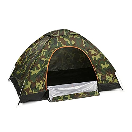 LYB 1~2 Persona Automatic Pop up Outdoor Family Camping Tienda Easy Open Camp Tents Ultralight Instant Shade Construction Portable (Color : Brown)