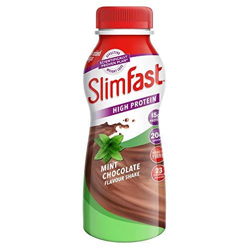 SlimFast eiweissreicher Minze-Schokoladen Shake, 325ml, 6er Packung
