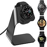 KIMILAR Cargador Compatible con Samsung Galaxy Watch 4/Galaxy Watch 4 Classic/Galaxy Watch 3/Galaxy Active/Active 2 Base de Carga, Aluminio Reemplazo USB Cargador Cable para Galaxy Watch (Negro)