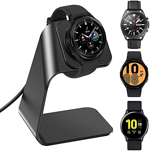 KIMILAR Ladegerät Kompatibel mit Samsung Galaxy Watch 4 40mm 44 mm/Watch4 Classic 46mm 42mm/Galaxy Active/Active 2 40mm 44mm/Watch 3 45mm 41mm Ladestation, Aluminiumlegierung USB Ladekabel