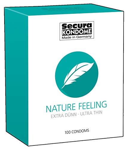 Secura Nature Feeling 100er Kondome - 100 hauchzarte Präservative zur Verhütung ohne Hormone für Männer, transparent