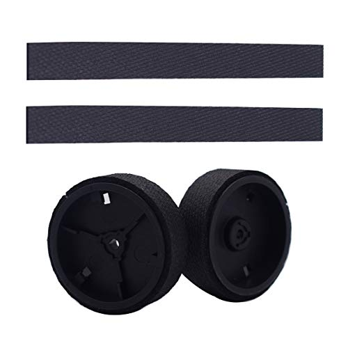 ilovelife Replacement Braava Wheels Tires Parts Kit - 2 Caster Wheels 2 Wheel Tires for iRobot Braava 380 380t 320 Mint 4200 5200C Mopping Robot Accessories
