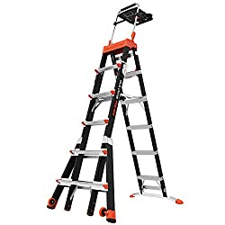 Little Giant Adjustable Fiberglass Ladder