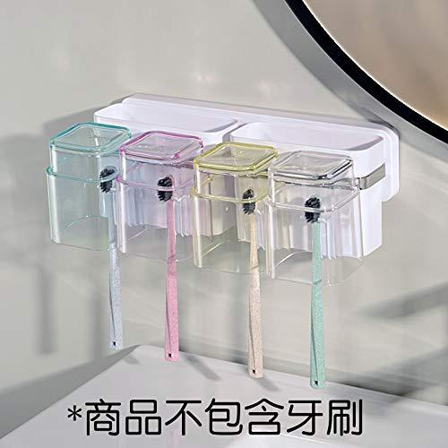 Portapenne da Muro Portapenne da Bagno Portaoggetti per Spazzolino da Bagno in Acciaio Inox Plastica Bianco