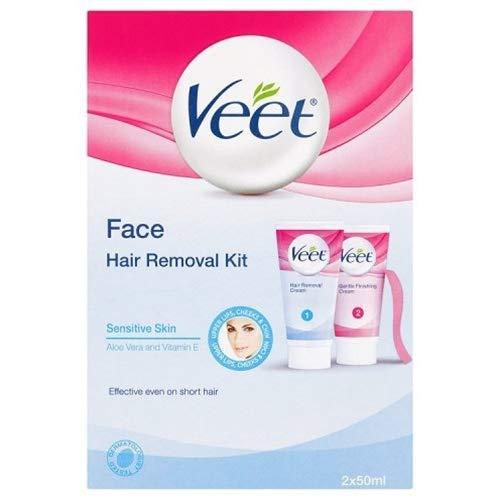 Veet Crema depilatoria facial - 2 x 50 ml