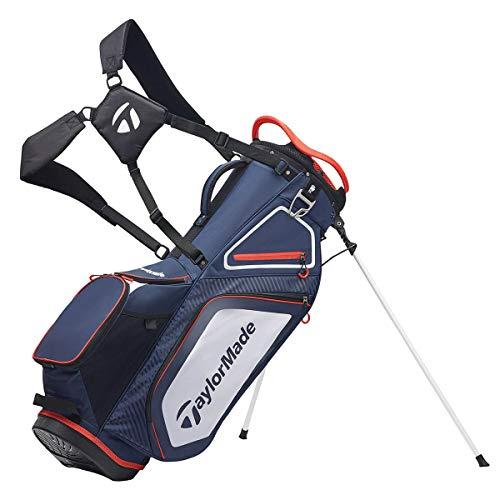 TaylorMade Pro Stand 8.0 Golftasche (2020 Version), Unisex, Tasche mit Ständer, Marineblau / Weiß / Rot, Einheitsgröße