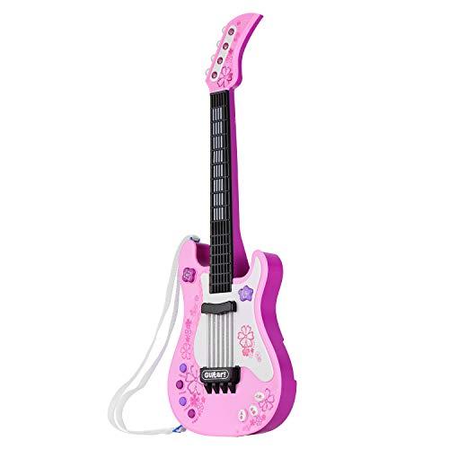 Guitarra pequeña para niños con luces y sonidos rítmicos Instrumentos musicales educativos...