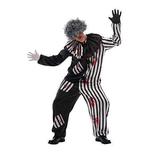 EraSpooky Costume da Clown Spaventoso da Uomo Halloween Killer Circus Cosplay