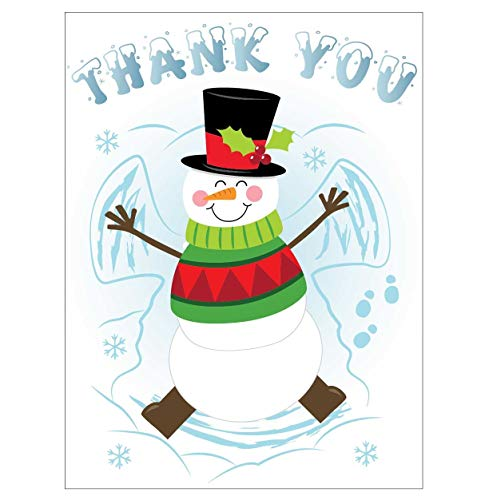 Iconikal Christmas'Thank You' Note Greeting Cards with Envelopes, 35-Count