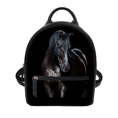 Showudesigns Mini mochila de cuero de la PU animal para adolescentes Giris viajes de compras