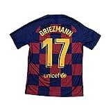 グリーズマン サッカーユニフォーム FCバルセロナ ホーム 背番号17 レプリカサッカーユニフォーム 子供用 ジュニア 上下 靴下 GVオリジナルセット商品 (ホーム, S)