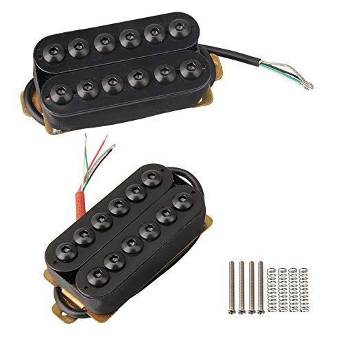 Yibuy Modell HOC-BK-TMB Schwarz Metall Doppelspulen Gitarren Tonabnehmer Humbucker für E-Gitarre