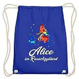 Alice In stato di rumore, alcol, droga, bere, saufen, birra, rum, cotone Gymsac, (Blu reale), 37cm-46cm