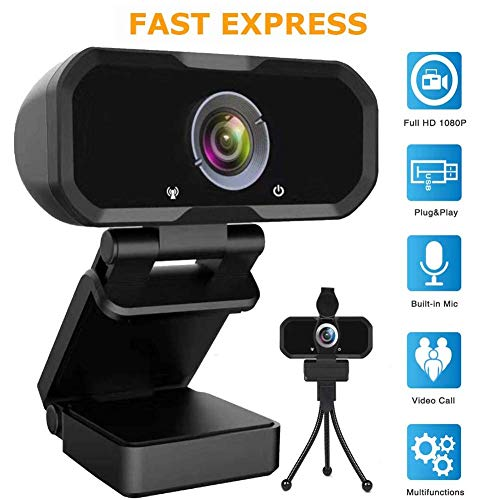 Webcam 1080p HD Computer Camera - Microphone Laptop USB PC Webcam, HD Full Gaming Computer Camera,...