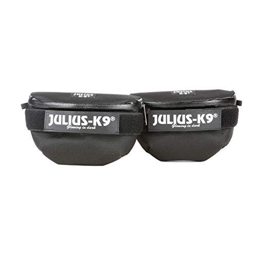 Julius-K9 1621IDC-G Idc Universal Bolsas Laterales, Negro