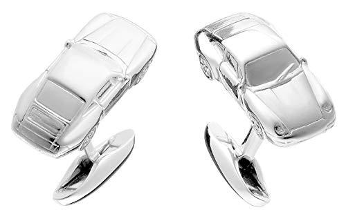 925 Silber-Manschettenknöpfe im Sportwagen Design - hochwertig, massiv und elegant, made in Germany…