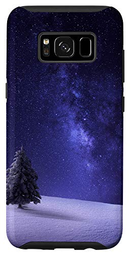 Galaxy S8 Christmas Tree Winter Starry Night Snow Cool X-Mas Gifts Case