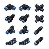 Saim recto conectores r/ápidos accesorios neum/ática 6/mm x 1//8/PT macho rosca 10/pcs