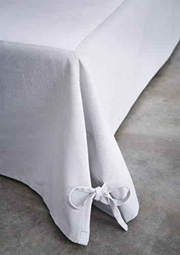 TODAY Cache Sommier 160/200 Zinc, Coton, 160x200 cm