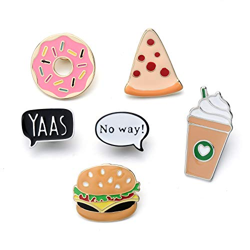 Dragon Fashion Enamel Lapel Pin Set for Clothing Bags Backpacks, Novelty Enamel Pins Set for Women Girls Christmas Decorations, Foods Brooches Pin Badges for Clothes