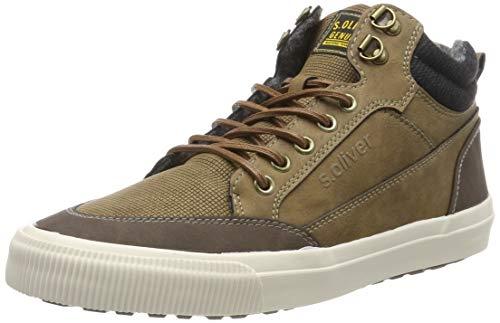s.Oliver Herren 5-5-15224-23 Hohe Sneaker, Braun (Brown 300), 42 EU